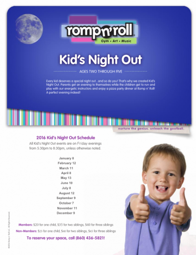 Kid's Night Out @ Romp N' Roll | Wethersfield | Connecticut | United States